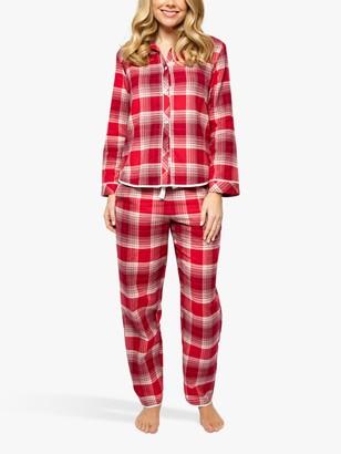 Cyberjammies Megan Check Pyjama Set, Red/Multi
