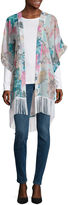 MIXIT Mixit Floral Swiss Dot Kimono Wrap