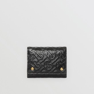 Burberry Small Monogram Leather Folding Wallet