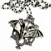 Couture By Lolita Bat Skull Necklace Filigree