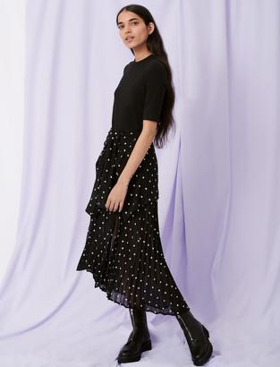 Maje Trompe-lil shirt dress