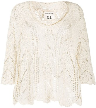 Semi-Couture Loose Knit Jumper