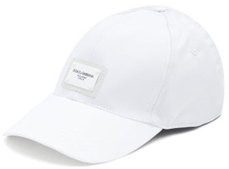 Dolce & Gabbana Logo-plaque Cotton-canvas Cap - White
