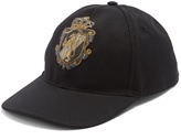 Dolce & Gabbana Crest-embroidered canvas cap