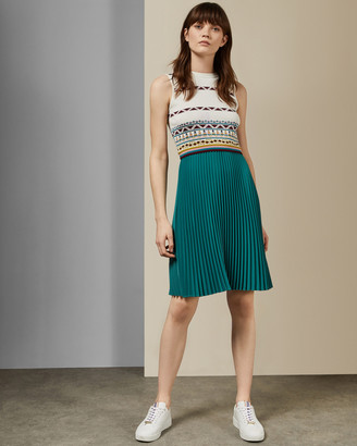Ted Baker ZANNAN Triangle print pleated dress