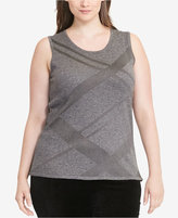 Lauren Ralph Lauren Plus Size Metallic Sleeveless Sweater