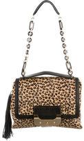 Diane von Furstenberg Leopard Print Haircalf Bag