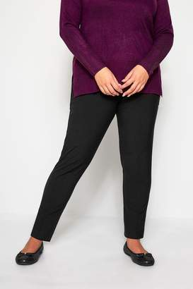 Womens Yours Tapered Trousers - Black