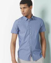 Ted Baker Diamond jacquard cotton poplin shirt