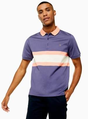 Farah TopmanTopman Purple 'Rushton' Stripe Polo*