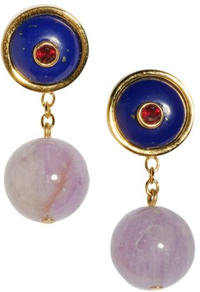 Lizzie Fortunato Yolo Goldplated & Mixed-Stone Drop Earrings