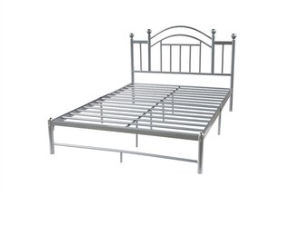 Overstock Full size Silver Metal Platform Bed Frame with Arched Headboard