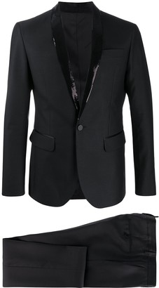 DSQUARED2 Sequin Collar Single-Breasted Suit