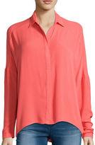 Decree Long-Sleeve Button-Front Blouse