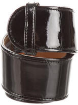 Alexander McQueen Patent Leather Waist Belt