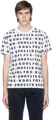 MAISON KITSUNÉ White All Over Kool Fox T-Shirt