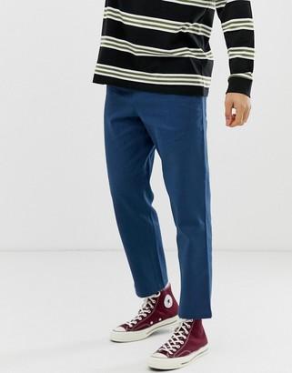 Farah Hawtin hopsack cropped trousers in blue