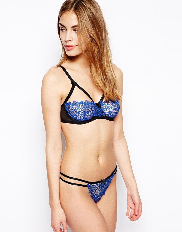 Asos Millie Lace Caged Balconette Bra
