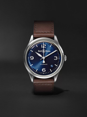 Bell & Ross Br V1-92 Automatic 38.5mm Steel And Leather Watch