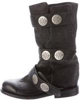 Thomas Wylde Leather Embellished Boots