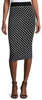 Michael Kors Polka-Dot Pencil Skirt, Black/White
