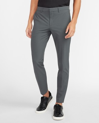 Express Extra Slim Gray Houndstooth Tech Suit Pant