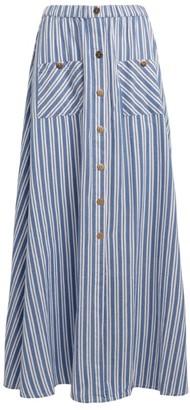 Melissa Odabash Stripe Kelly Maxi Skirt
