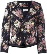 Saint Laurent floral jacquard jacket