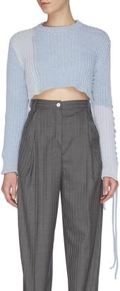 Mrz 'Paricollo Corto' cross stitch string cropped sweater