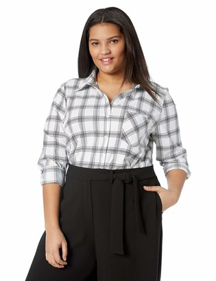 Lysse Women's Size Plus Schiffer Button Down
