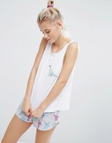 Asos Embroidered Dinosaur Tank & Short Pajama Set