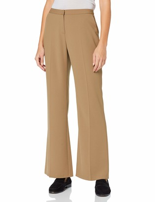 Dorothy Perkins Women's Crepe Bootcut Camel Trousers