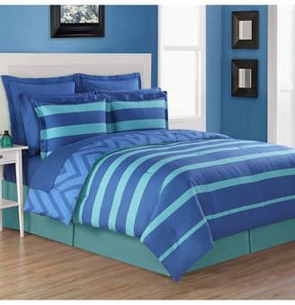 Fiesta Biscay 4-Piece Reversible Queen Comforter Set Bedding