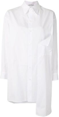 Yohji Yamamoto Draped Panel Button-Up Shirt