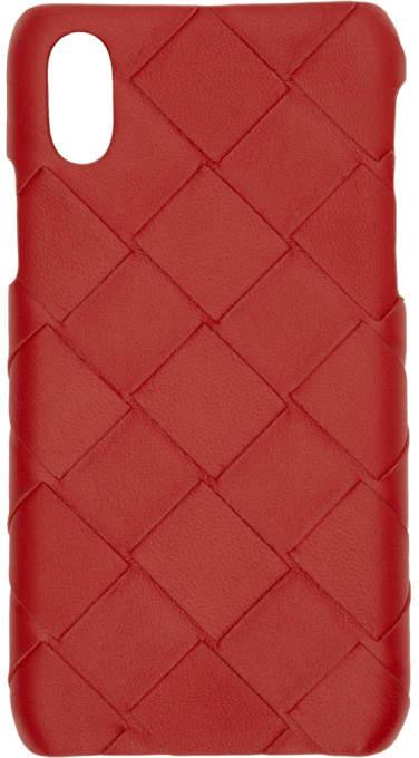 Bottega Veneta Red Max Intrecciato iPhone X/XS Case