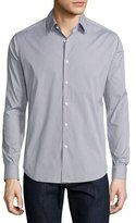 Theory Sylvain Dillene Slim-Fit Box-Check Sport Shirt, White/Blue