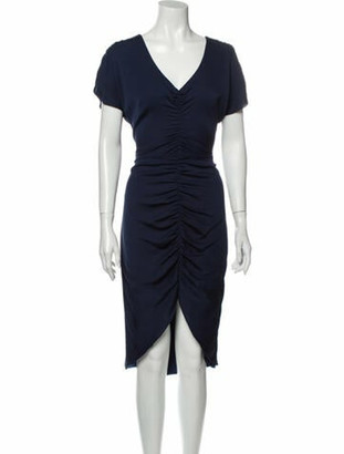 Milly Silk Midi Length Dress w/ Tags Blue