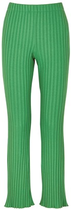 Simon Miller Cyrene Green Ribbed Jersey Trousers
