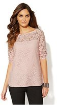 New York & Co. 3/4-Sleeve Lace Blouse