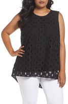 Vince Camuto Plus Size Women's High/low Cable Lace Top