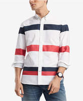 Tommy Hilfiger Men's Blaine Custom-Fit Stripe Oxford Shirt, Created for Macy's