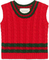 Gucci Baby cable-knit cotton vest