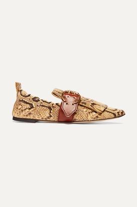 Chloé Snake-effect Leather Loafers - Snake print