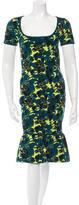 Zac Posen Patterned Midi Dress