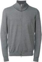 Maison Margiela striped zip-up cardigan