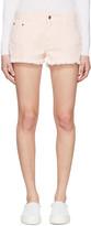Stella McCartney Pink Denim Cut Off Shorts
