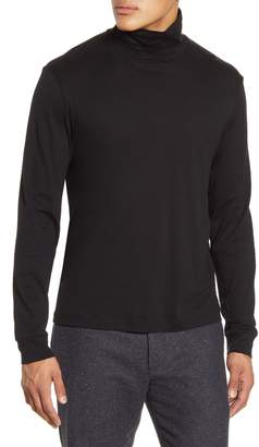 Theory Turtleneck Cotton & Cashmere T-Shirt