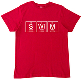 Micro Me Red 'Swim' Periodic Table Crewneck Tee - Toddler & Girls