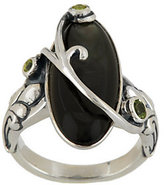 Mother of Pearl Carolyn Pollack Sterling Mother-of-Pearl and Peridot Statement Ring