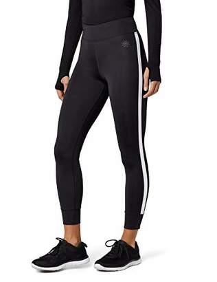 AURIQUE Side Stripe Sports Gym Leggings Women, (Grey Marl), (Size: Small)